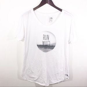 The North Face | Run Wild White Graphic Tee Tshirt